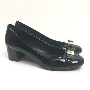 Michael Kors -Kiera Block Heel bow front pump heel
